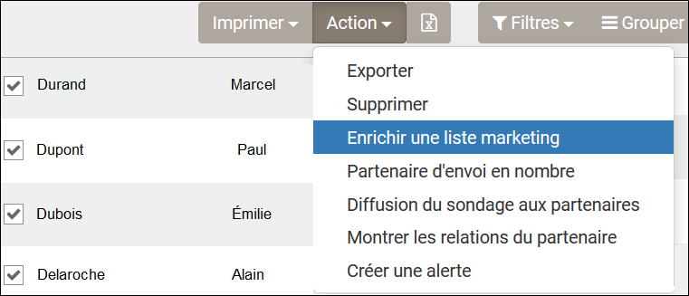 Enrichir une liste marketing